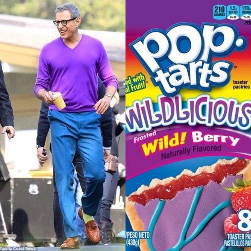 Jeff Goldblum as pop tarts - Magazine - 210 15 170 CALORES SATF PE aris ANILDLICOUS ced with al Fruit! toaster pastries Wild! Berry Naturally Flavored Frosted PESO NETO (430g) Racilic Coast News TOASTER PA PASTELILLOS PA