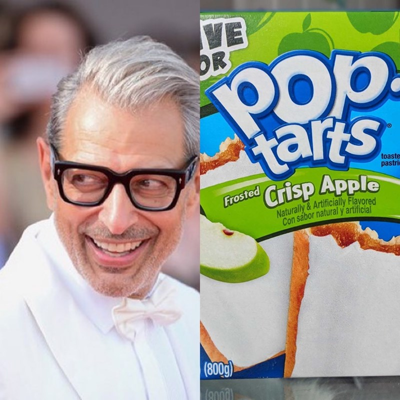 Jeff Goldblum as pop tarts - Food - VE OR tarts toaste pastri Crisp Apple Frosted Naturally&Artificially Flavored Con sabor natural y artificial (800g)