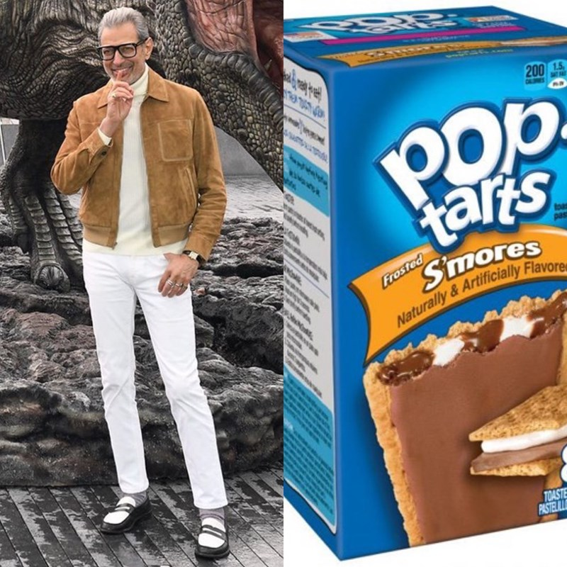 Jeff Goldblum as pop tarts - Snack - 200 1.5 tars pas Smores Naturally&Artificially Flavore ww Frosted TOASTE PASTEL