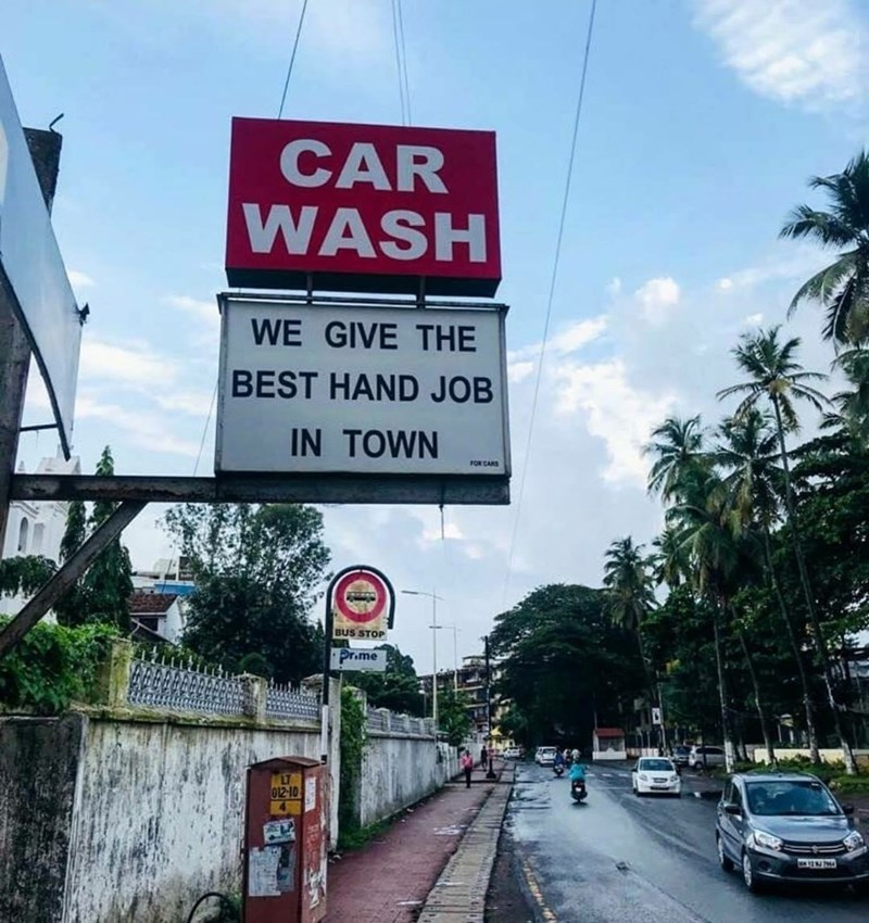 Sky - CAR WASH WE GIVE THE BEST HAND JOB IN TOWN FOR CARS BUS STOP Pr.me LT 012-10
