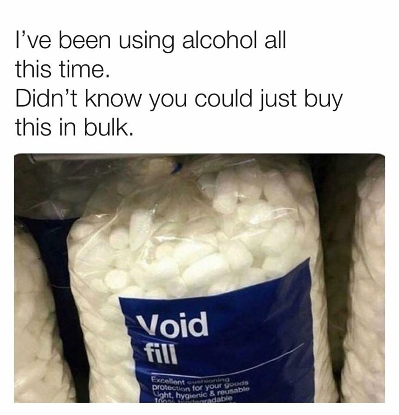 Product - I've been using alcohol all this time. Didn't know you could just buy this in bulk. Void fill Excellent cuioning protection for your goods ht, hygienic &reusable radable 1000