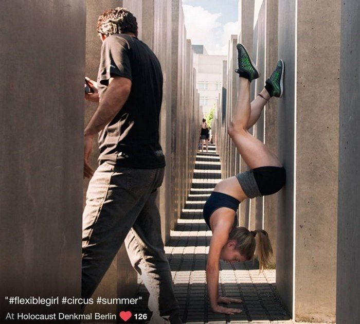 "Leg - ""#flexiblegirl #circus #summer "" At Holocaust Denkmal Berlin 126"