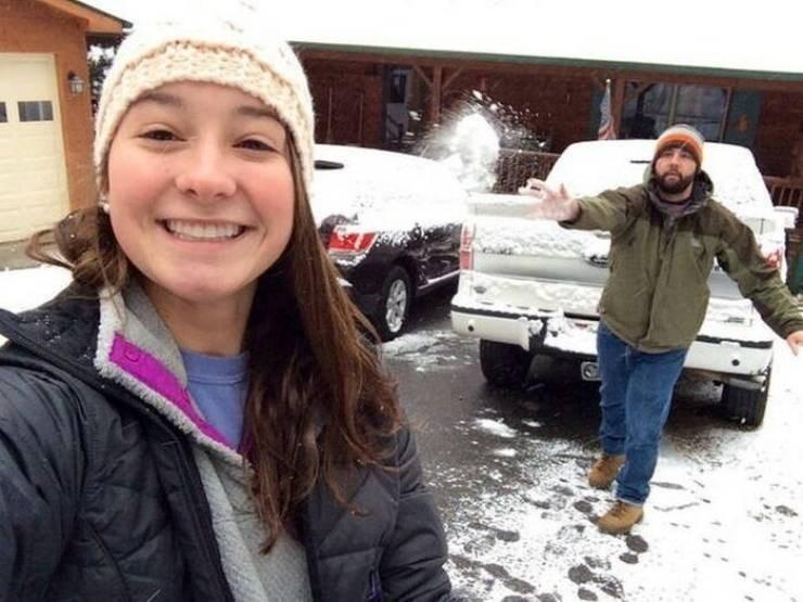 perfect timing pics - Snow