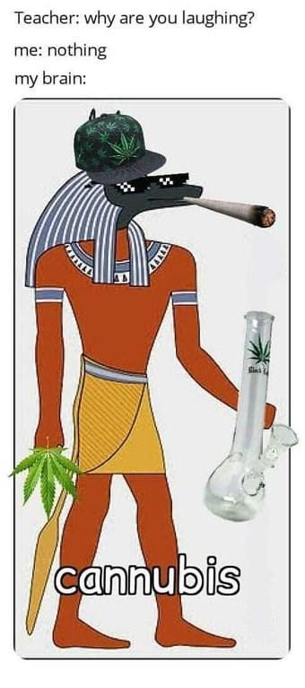 420 memes of an Egyptian smoking