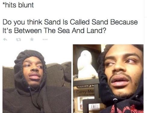 420 memes about the origin of the word sand while you're high