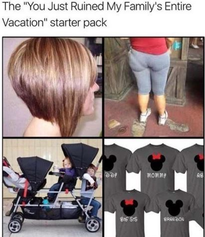 """meme - Hair - The """"You Just Ruined My Family's Entire Vacation"""" starter pack mOmmp AB ee"""