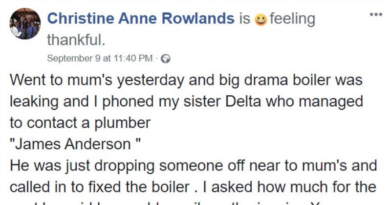Kind plumber's invoice for a 91-year-old grandma goes viral on Facebook.
