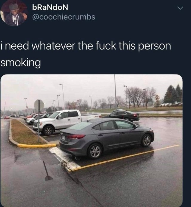 Vehicle - bRaNdoN @coochiecrumbs i need whatever the fuck this person smoking
