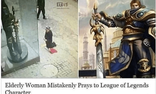 Fictional character - IT Elderly Woman Mistakenly Prays to League of Legends Character