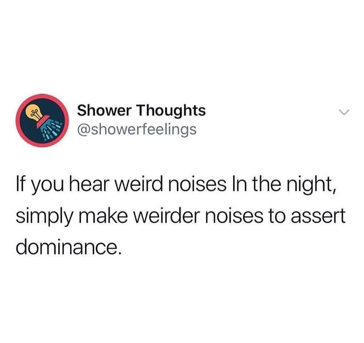 random meme about making weird noises if you hear weird noised
