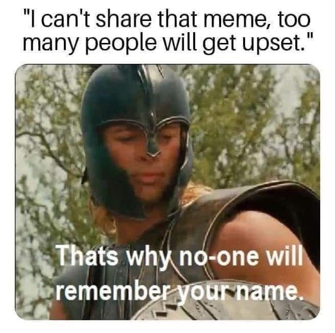 random meme about not wanting to share a meme because it will upset people