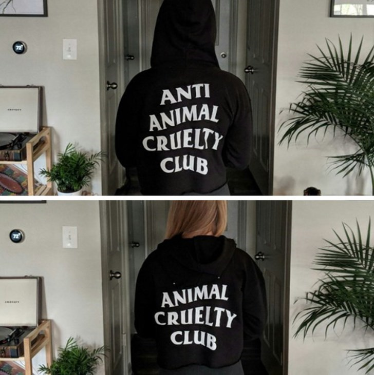 Black - ANTI ANIMAL CRUELTY CLUB ANIMAL CRUELTY CLUB