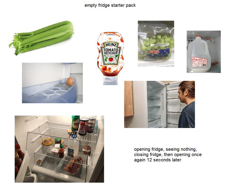 starter pack for every fridge