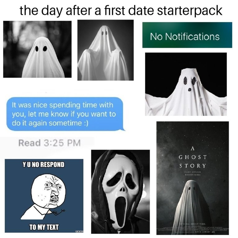 starter pack for people after going on a first date