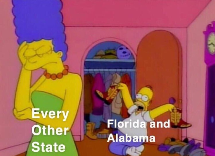 Cartoon - Every Other Florida and Alabama State