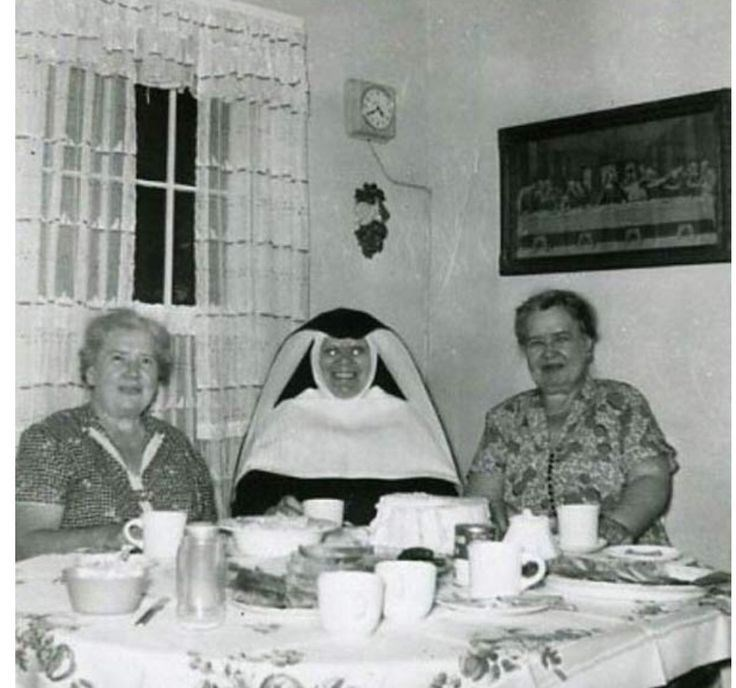 cursed_image - Photograph with nun