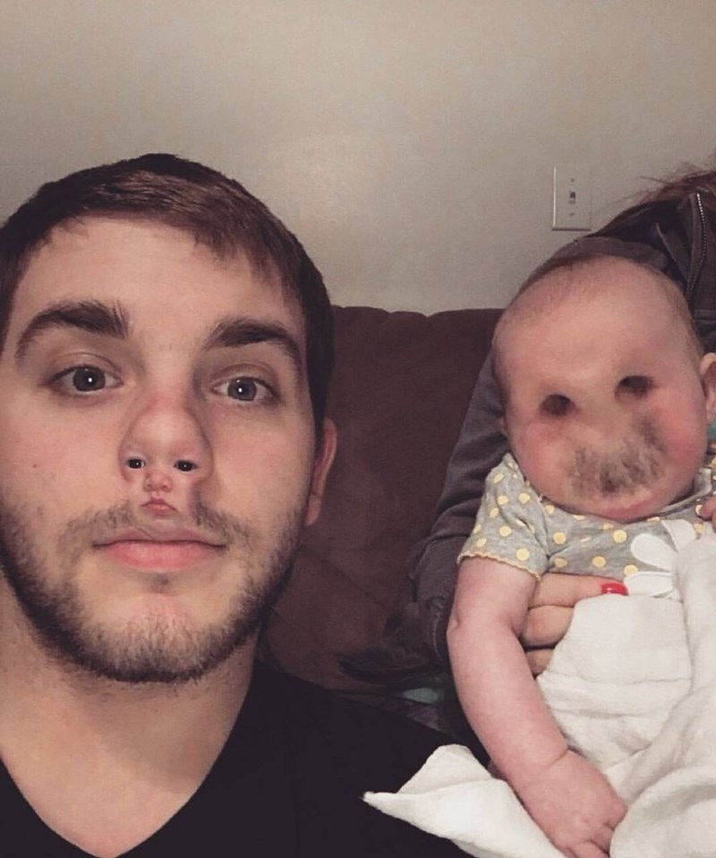 cursed_image-face swap with a baby