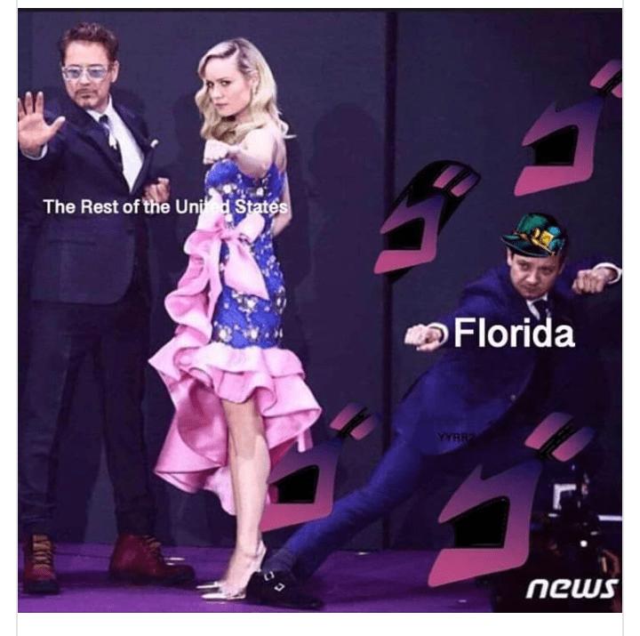 random meme with ironman, captain marvel and florida man