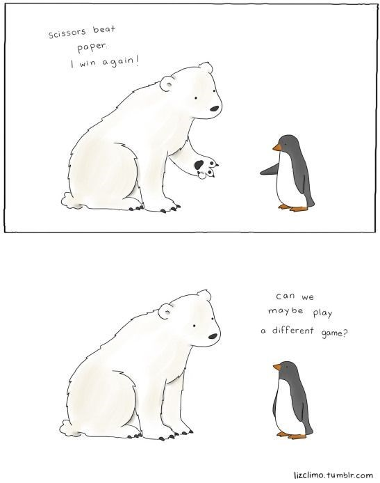 Vertebrate - Scissors beat paper a gain! win 1 can we may be play different game? lizclimo.tumblr.com