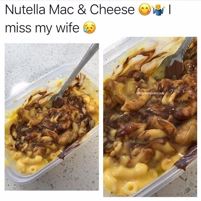 Food - Nutella Mac & Cheese miss my wife @boyswhocancook