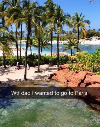 Nature - Wtf dad I wanted to go to Paris.