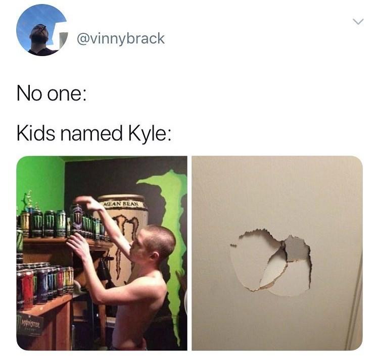 cringe - Technology - @vinnybrack No one: Kids named Kyle: ALEAN BEAR MNSTER