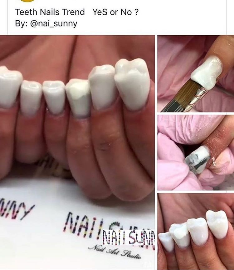 cringe - Nail - Teeth Nails Trend YeS or No? By: @nai_sunny HNY NAINAIS Nail At Fudie