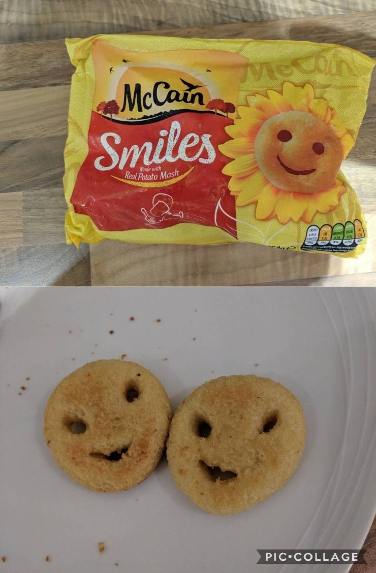 Food - McCain eO Smiles Made with Real Potato Mash PIC COLLAGE