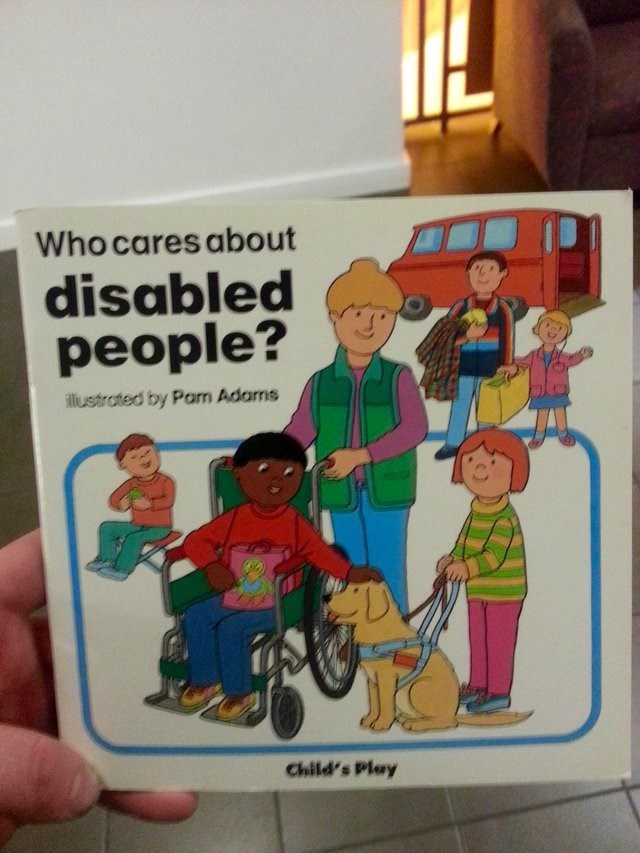 Toy - Who cares about disabled people? llustrated by Pam Adams Child's Play