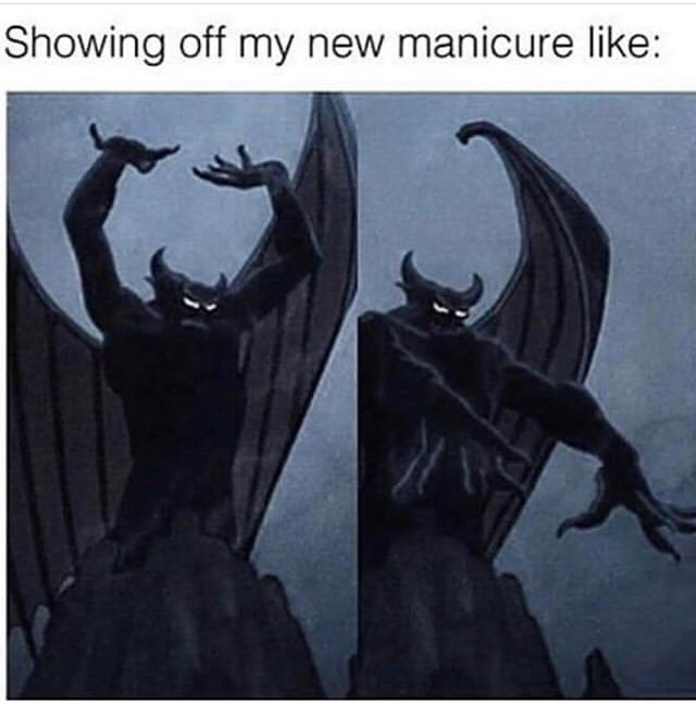 Batman - Showing off my new manicure like: