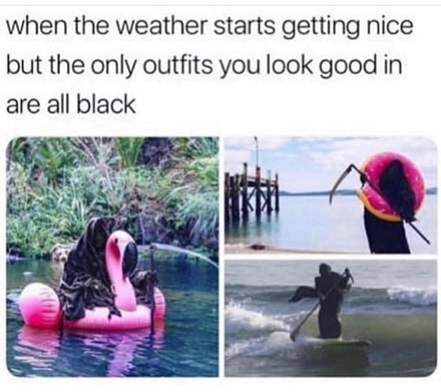 Organism - when the weather starts getting nice but the only outfits you look good in are all black
