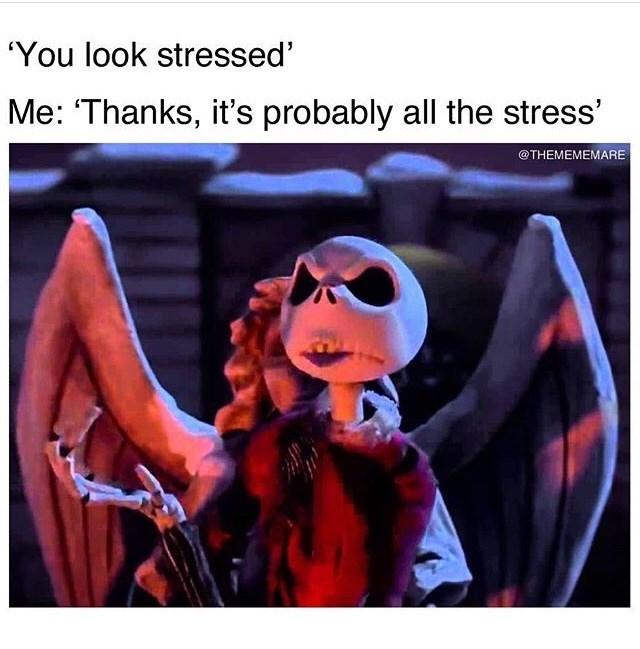 Eyewear - 'You look stressed Me: 'Thanks, it's probably all the stress' @THEMEMEMARE