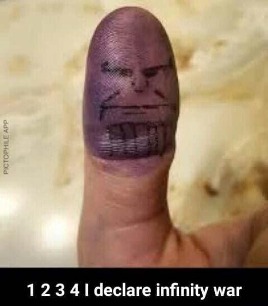 meme - Face - 12341 declare infinity war PICTOPHILE APP