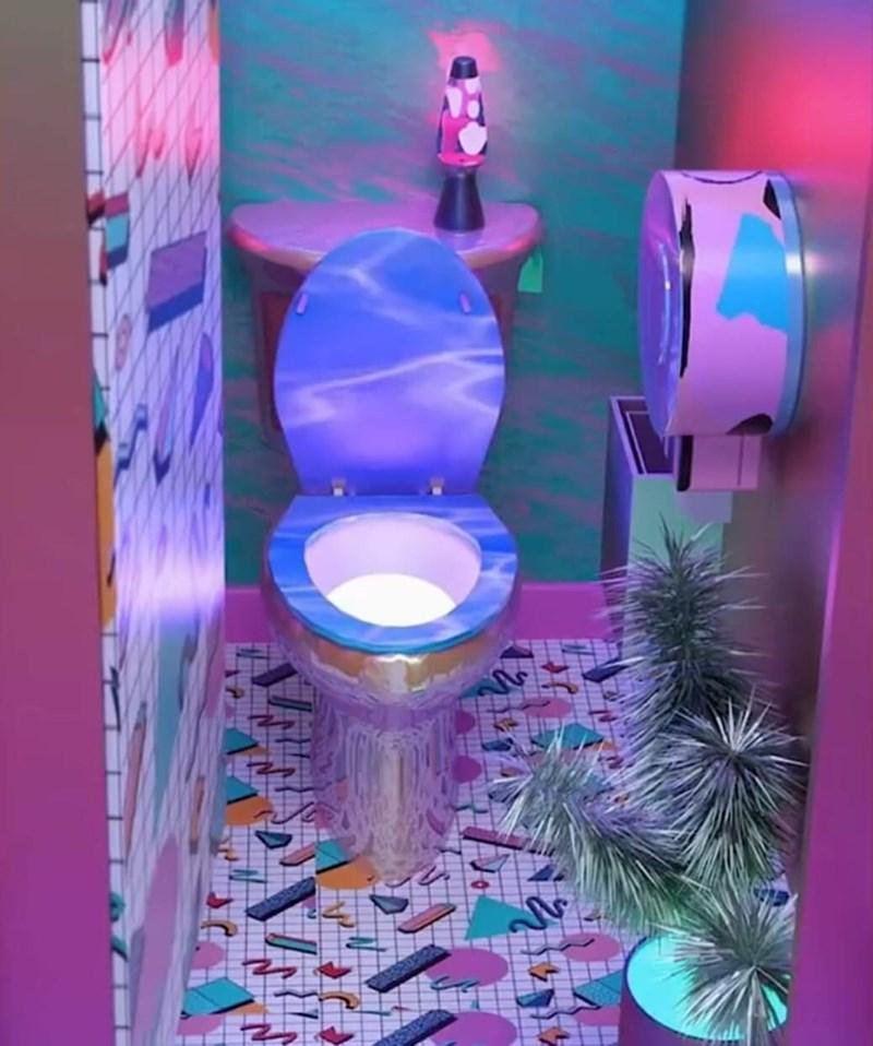 cursed_images - Purple toilet
