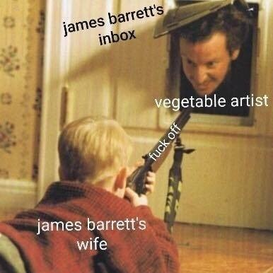 Clarinetist - james barrett's inbox vegetable artist james barrett's wife fuck off