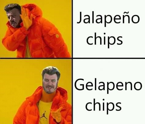 canada meme - Orange - |Jalapeño chips Gelapeno chips