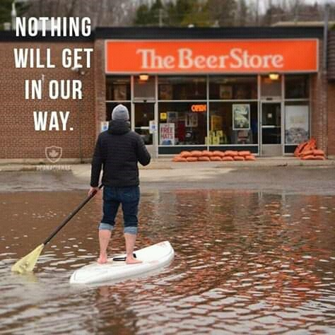 canada meme - Stand up paddle surfing - NOTHING WILL GET The BeerStore IN OUR OPEN WAY.