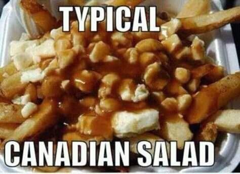 canada meme - Dish - TVPICAL CANADIAN SALAD