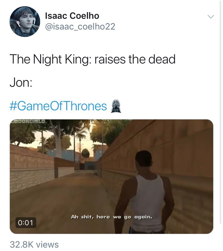 'Game Of Thrones' Season 8 Episode 3 'Battle For Winterfell' - the night king: raises the dead jon: #game of thrones.