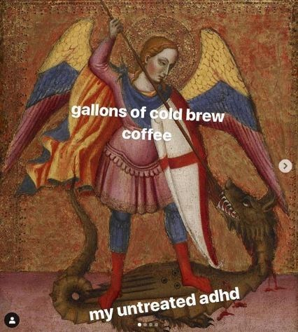 Art - gallons of cold brew coffee my untreated adhd