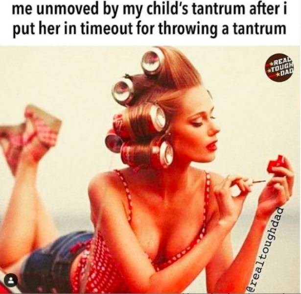 Album cover - me unmoved by my child's tantrum after i put her in timeout for throwing a tantrum *REAL TOUGH DAD @realtoughdad