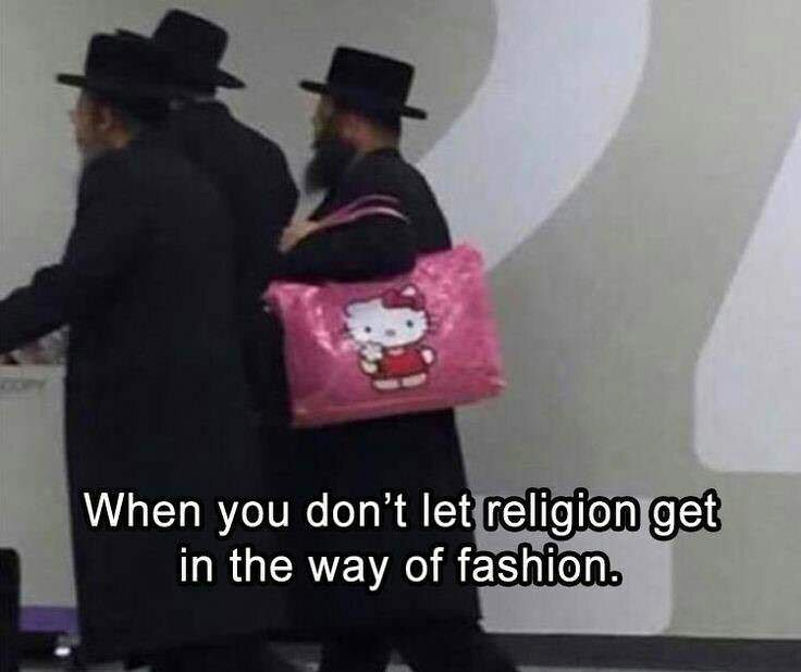 meme - Pink - When you don't let religion get in the way of fashion.