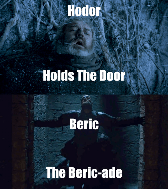 Album cover - Hodor Holds The Door Beric The Beric-ade