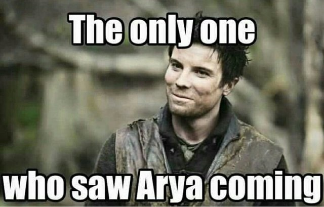 Photo caption - The only one who saw Arya coming