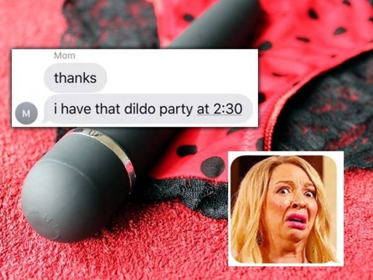 Pink - Mom thanks i have that dildo party at 2:30