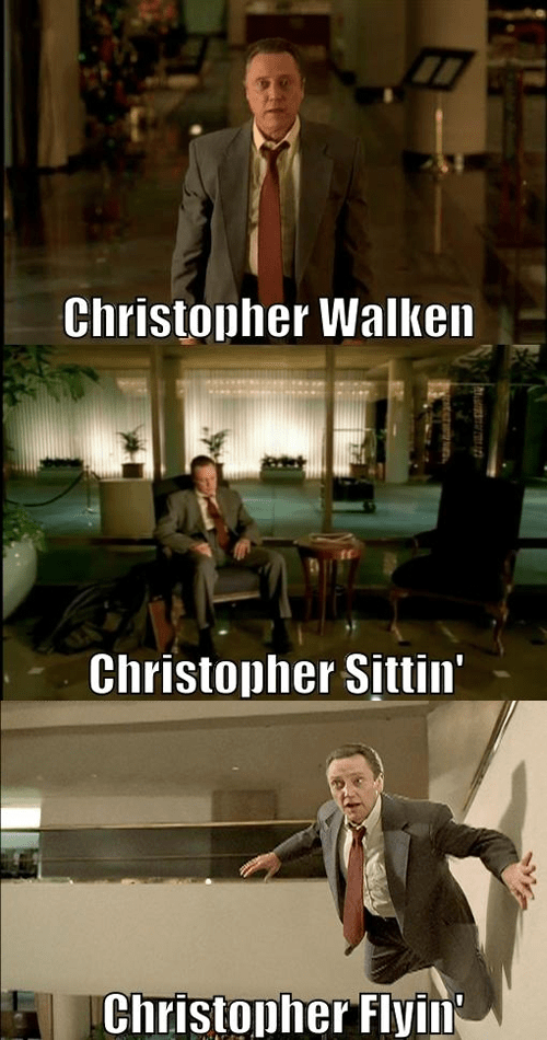Photo caption - Christopher Walken Christopher Sittin' Christopher Flyin