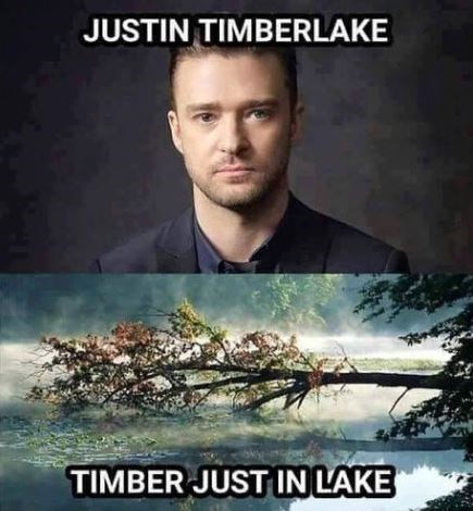 Photo caption - JUSTIN TIMBERLAKE TIMBER JUST IN LAKE