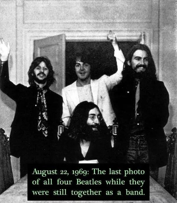 August 22, 1969: The last photo of all four Beatles while they were still together as a band.