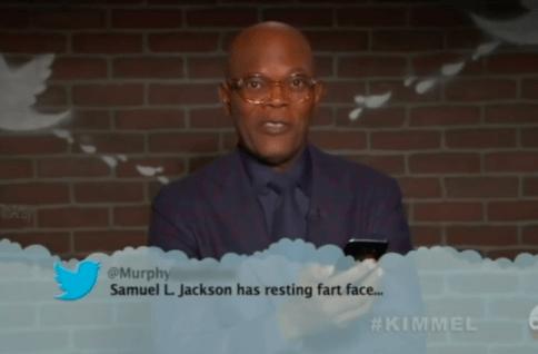 Adaptation - @Murphy Samuel L. Jackson has resting fart face... #KIMMEL