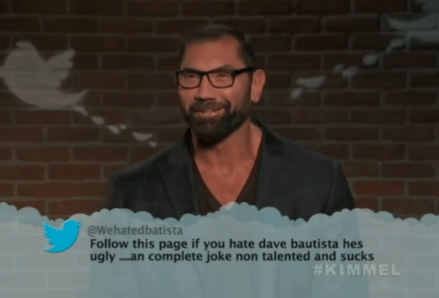 Hair - @Wehatedbatista Follow this page if you hate dave bautista hes ugly..an complete joke non talented and sucks #KIMMEL